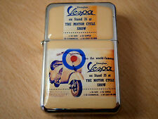 VESPA MOTOR BIKE STAR BRAND CIGARETTE FLIP LIGHTER TOBACCO & extra zippo flints