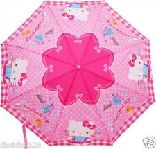 New Hello Kitty Figure Handle Pink Polka Dot Parasol Umbrella Rare KK311