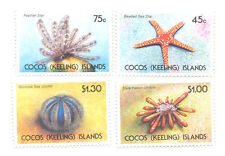 Cocos (Keeling) islands-starfish & Sea Urchins MNH (240-3)