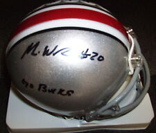 MIKE WEBER OHIO STATE BUCKEYES SIGNED & INSCRIBED RIDDELL MINI HELMET W/ COA