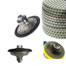 "3/8"" Roundover 1 1/4"" Ogee Bullnose Router Polishing Pad Granite concrete marble"