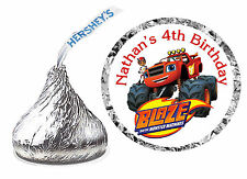 216 BLAZE AND THE MONSTER MACHINES BIRTHDAY PARTY FAVORS HERSHEY KISS LABELS