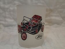 Vintage Hazel Atlas Gay Fad old auto shot glass 1910 Ford 4 oz