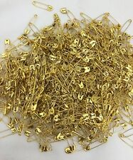 35pc Gold Small Size Safety Pins Craft Multiple Use For Saree Dress Scarfs For