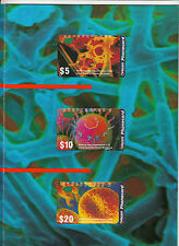 Phonecards 1993 Australia Microscopic World magnetic set of 3 in pack