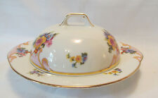Epiag Czechoslovakia BRIDAL ROSE WHITE Round Covered Butter Dish
