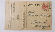 used postcard with polish stamp on  from ostrow  to posen o   2-10-1919