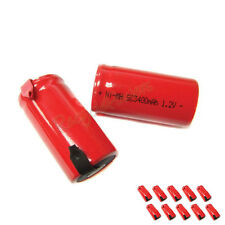 10 Sub C SubC 3400mAh Ni-Mh rechargeable Battery RED