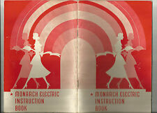 Vintage Booklet Monarch Electric Range Instruction book 32 Pages Variety