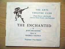 .1950s Arts Theatre Club Programme: THE ENCHANTED by Jean Giraudoux