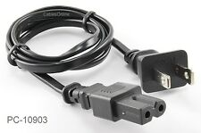CablesOnline 3 ft. 2-Prong Figure-8 Polarized Replacement Power Cord, PC-10903