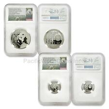 China 2016 HSNA Bamboo Panda Hawaii Expo 1 oz and 2 grams Silver NGC PF69 Set ER