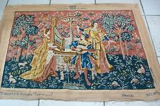 Vintage french Medieval style tapestry  #48 reproduction of 15th century