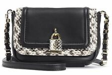 NWT Juicy Couture Black Natural Snake Leather Luxe Locks Mini G Crossbody Bag