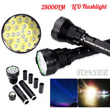 28000LM 5Mode CREE XM-L LED 21x T6 Super Flashlight Torch Lamp Light 18650 TE