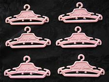 VINTAGE BARBIE SUSY SUZY GOOSE PINK  CLOTHES HANGERS FOR WARDROBE OR CHIFFEROBE