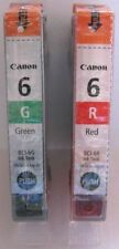 Canon Genuine BCI-6R & BCI-6G Ink Cartridges. New.