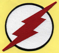 """KID FLASH  8x12"""" X-Large Fully Embroidered White & Red Chest Insignia Patch"""