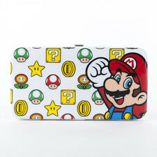 Official Nintendo SUPER MARIO WOMENS WALLET Hard Case Flat Opera Clutch 1up CUTE