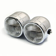 Pair of Twin Chrome 35W Headlights for Honda CBX1000 CBX 1000 Streetfighter Bike