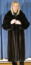 $8,000.00 TOP QUALITY RICH DARK RANCH FEMALE MINK FUR COAT **MINT AAA**