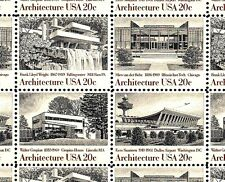 1982 - FRANK LLOYD WRIGHT - #2019-22 Mint -MNH- Sheet of 40 Postage Stamps