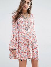 NWT RALPH LAUREN DENIM&SUPPLY LADYS COTTON BELL SLEEVE FLORAL DRESS, SIZE XS