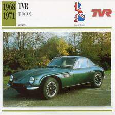 1968-1971 TVR TUSCAN Sports Classic Car Photo/Info Maxi Card