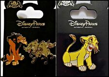 Disney Parks 3 Pin Lot LION KING Simba + Scar & Hyenas