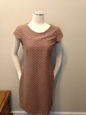 The Limited Mocha Brown Lace Shift Dress Medium Lined Excellent