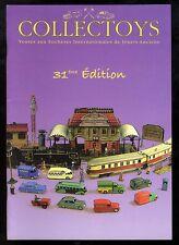 COLLECTOYS  31 eme  vente de jouets anciens    20 avril 2002