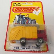 1980 Matchbox #36 REFUSE TRUCK Superfast factory sealed blister card