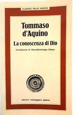 Tommaso d'Aquino, La conoscenza di Dio