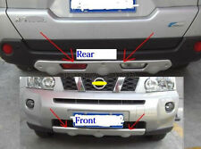 Chrome Front Rear Protector Bumper For 2008-2012 Nissan X-Trail ABS