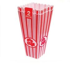 PACK OF 2 PARTY CINEMA AMERICAN STYLE PLASTIC POPCORN HOLDER