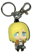 Attack on Titan SD Christa PVC Key Chain Licensed Anime NEW