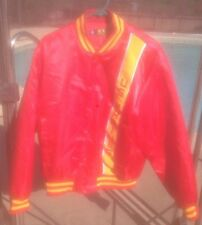 VINTAGE 90s US MARINES Corps USMC Satin Jacket Red Military Bomber Veteran sz M