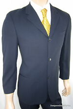 *DKNY* $895 Men's 38 S 38S Suit Navy Pinstripe *Canadian* Bernini Beverly Hills