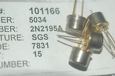 SGS 2N2195A Transistor TO-5 3-Pin Through Hole New Lot Quantity-2