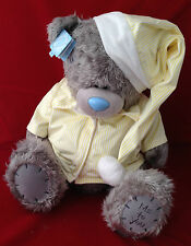 "ME to You Tatty Teddy Bear X Large 24"" Giallo Pigiama & Cappello peluche orso della buonanotte"
