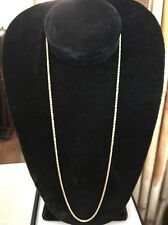 """FINE 14K SOLID GOLD DIAMOND CUT ROPE CHAIN NECKLACE 24"""" NICE & HEAVY 8.6 g, 2mm"""