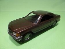 NZG MODELLE 282 MERCEDES BENZ 420 500 560 SEC - BROWN 1:35 - GOOD CONDITION