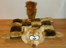 Plush Puppies FOX w/Checkered Body Squeak Toys in squares Baby RATTLE in Head
