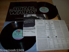 """1977 Star Wars  TWO NEAR MINT 12"""" vinyl INCLUDES INSERT&Force Order Form 2T-541"""