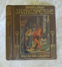 Stories From Shakespeare Told to the Children Jeanie Lang Antique Illus. Decor