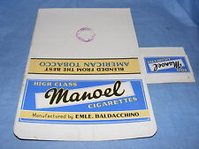 Vintage Cigarette Packet Manoel Cigarettes American Tobacco Custom Stamp Smoking