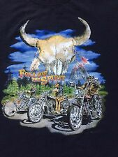 VINTAGE 1990s FOLLOW THE SPIRIT BIKER SHIRT harley davidson triumph motorcycle