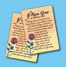 """""""If Roses Grow In Heaven"""" - Poem - 2 Verse Cards - SKU# 604"""