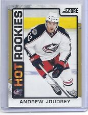 12-13 2012-13 SCORE ANDREW JOUDREY GOLD HOT ROOKIE 502 COLUMBUS BLUE JACKETS