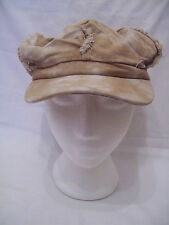ladies beige/cream tie dyed baker boy style caps one size (796.92)
